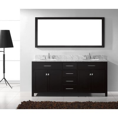 Bob 72 Double Bathroom Vanity Set with Mirror