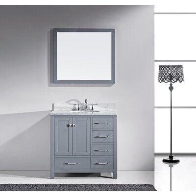 36 Single Bathroom Vanity Base Finish: Gray