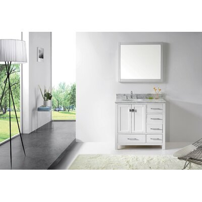 36 Single Bathroom Vanity Base Finish: White
