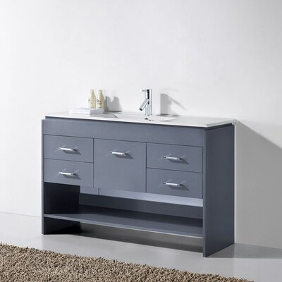 Carstens 48 Single Bathroom Vanity Set with Mirror Base Finish: Espresso