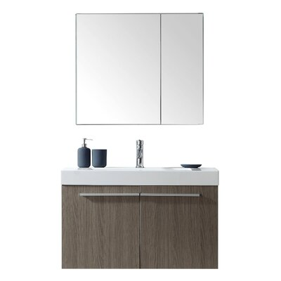Frausto 36 Single Bathroom Vanity Set with Mirror Faucet Finish: Polished Chrome