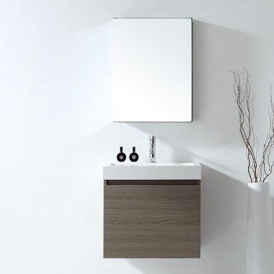 Zuri 24 Single Bathroom Vanity Set with Mirror Faucet Finish: Brushed Nickel