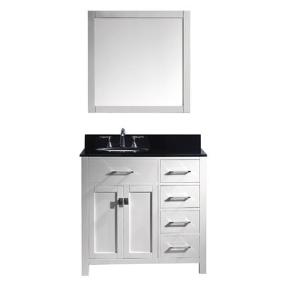 Caroline Parkway 36 Single Bathroom Vanity Set with Mirror
