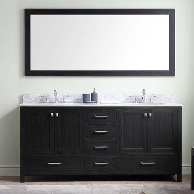 Caroline Premium 72 Double Bathroom Vanity Set with Mirror