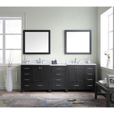 Stoneham 90 Double Bathroom Vanity Cabinet Set with Mirror