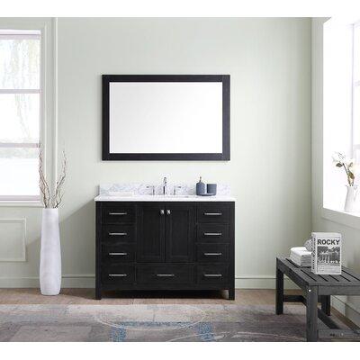 Melba 48 Single Bathroom Vanity Set with Ceramic and Mirror