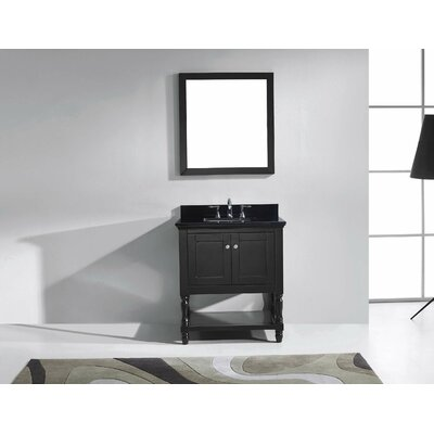 Julianna 32 Single Bathroom Vanity Set with Mirror Base Finish: Espresso, Faucet Finish: Polished Chrome