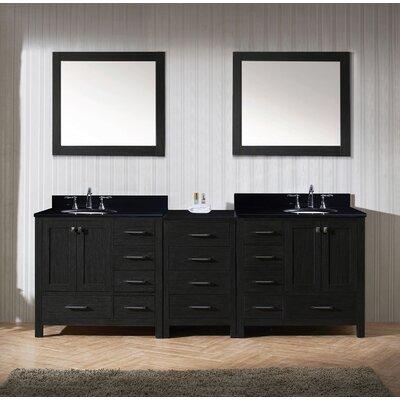 Caroline Premium 90 Double Bathroom Vanity Set with Mirror