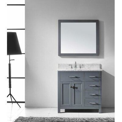 Caroline Parkway 36 Single Bathroom Vanity Set with Mirror Sink Shape: Square