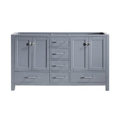 Caroline Avenue 60 Bathroom Vanity Base Base Finish: Gray