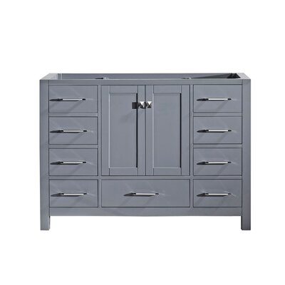 Caroline Avenue 48 Bathroom Vanity Base Base Finish: Gray