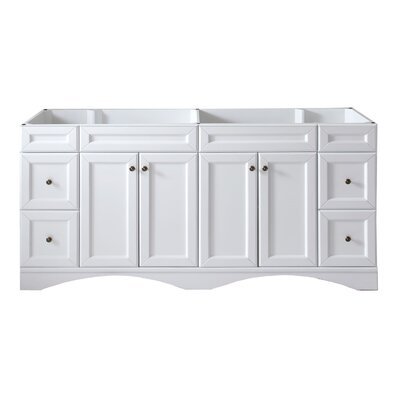 Rosado 71 Bathroom Vanity Cabinet Base Finish: White