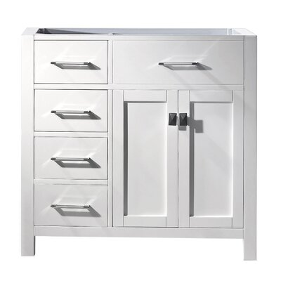 Caroline Parkway 36 Bathroom Vanity Base Base Finish: White