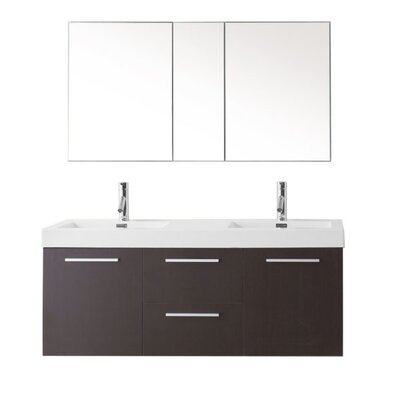 Frausto 54 Double Bathroom Vanity Set Faucet Finish: Brushed Nickel