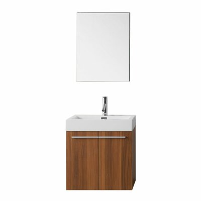 Frausto 24 Single Bathroom Vanity Set with Mirror Faucet Finish: Brushed Nickel