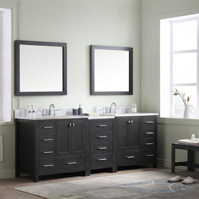 Caroline Premium 90 Double Bathroom Vanity Set Mirror