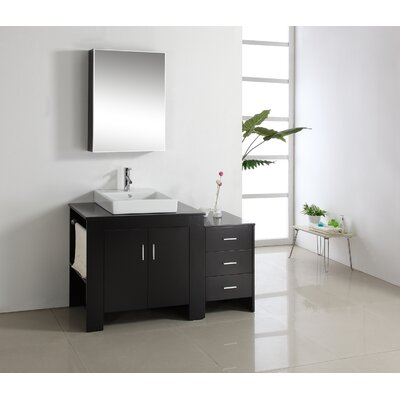Glen Ridge 53.9 Single Bathroom Vanity Set with Mirror Orientation: Left Side