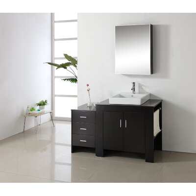 Glen Ridge 53.9 Single Bathroom Vanity Set with Mirror Orientation: Right Side