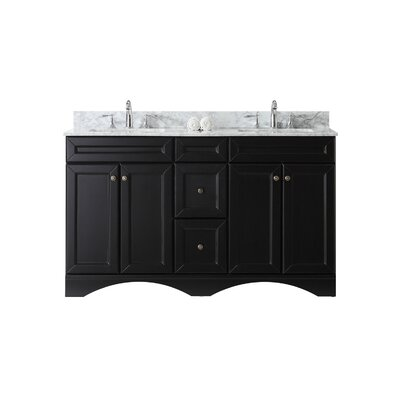 Talisa 59 Double Bathroom Vanity Base Base Finish: Espresso