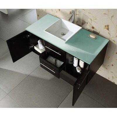 Ultra Modern Marsala 47 2 Wall Mounted Single Bathroom Vanity Set In Espresso Vanity Top