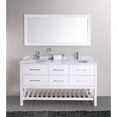 Valentina 59 Inch Double Sink Vanity Set Bathroom Double Vanity Cabinets