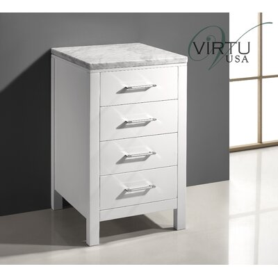 "virtu Caroline Parkway 20"" Vanity Side Cabinet - Finish: White at Sears.com"