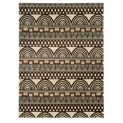 Roma Lima Ivory/Chocolate Rug Rug Size: Rectangle 5 x 7