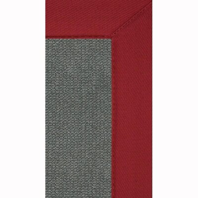 Athena Hand-Tufted Charcoal/ Red Are Rug Rug Size: 110 x 210