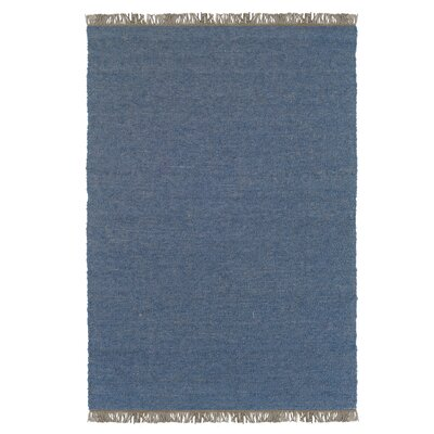 Landenberg Hand-Woven Blue Area Rug Rug Size: Rectangle 7'10
