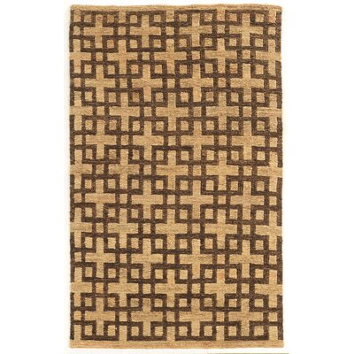 Chloraka Hand-Knotted Beige/Brown Area Rug Rug Size: Rectangle 5 x 8