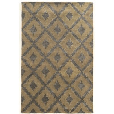Leone Hand-Tufted Gray Area Rug Rug Size: Rectangle 5 x 8