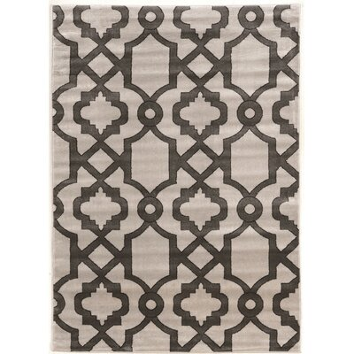 Alica Geo Light Gray Area Rug Rug Size: Rectangle 5 x 73