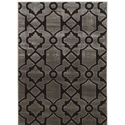 Alica Geo Gray/Black Area Rug Rug Size: 2 x 3