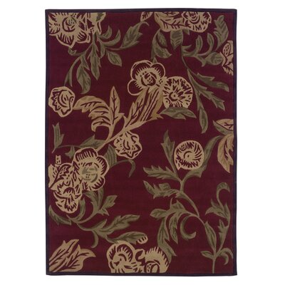 Linon Rugs Trio Red/Honey Area Rug - Rug Size: 5' x 7'