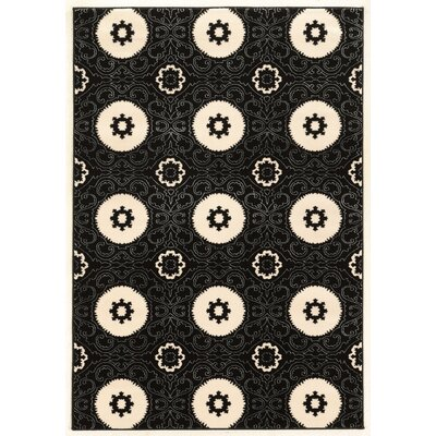 Prisma Karma Black Rug Rug Size: Rectangle 5 x 7