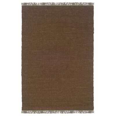 Landenberg Hand-Woven Cocoa Area Rug Rug Size: Rectangle 53 x 76
