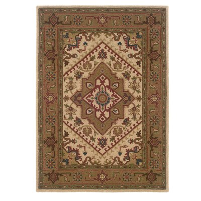 Bienville Hand-Tufted Wool Brown Area Rug Rug Size: Rectangle 5 x 7