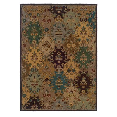 Billings Hand-Tufted Wool Brown Area Rug Rug Size: Rectangle 5' x 7'