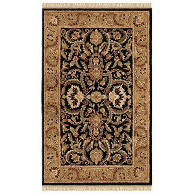 Gattis Hand-Tufted Black/Beige Area Rug Rug Size: Rectangle 4 x 6