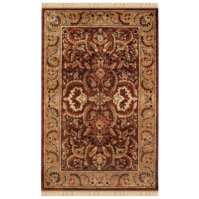 Gattis Hand-Tufted Burgundy/Beige Area Rug Rug Size: Rectangle 110 x 210