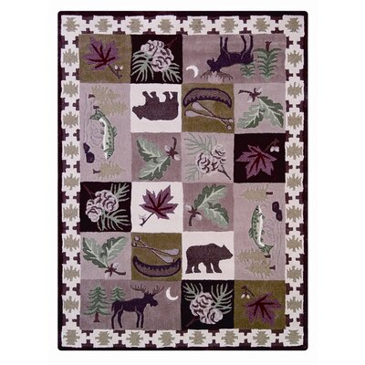 Wilderness Checked Indoor/Outdoor Area Rug Rug Size: 5 x 7