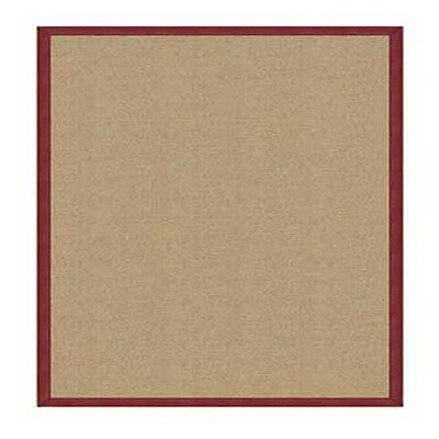 Athena Hand-Tufted Sisal/Burgundy Area Rug Rug Size: Rectangle 4 x 6