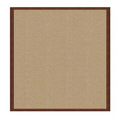 Athena Sisal/Brown Area Rug Rug Size: Rectangle 4 x 6