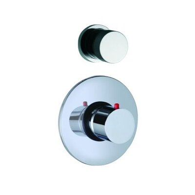 Spillo Built-In Thermostatic Valve Trim with One Volume Control Handle Finish: Chrome