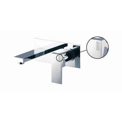 Brick Chic Wall Mounted Bathroom Sink Faucet with Single Lever Finish: Chrome