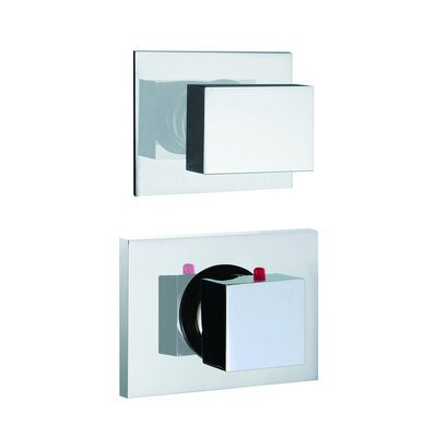 Brick Chic Built-In Thermostatic Valve Trim with One Volume Control Handle Finish: Chrome