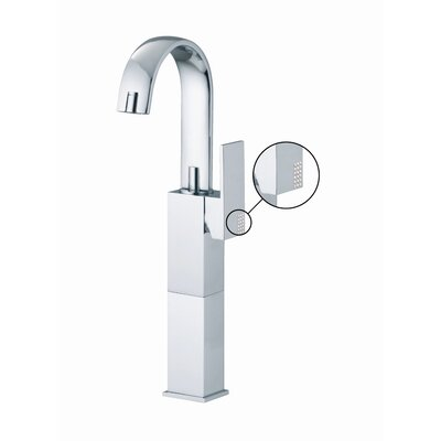 Brick Single Hole Bathroom Sink Faucet with Single Handle Finish: Chrome