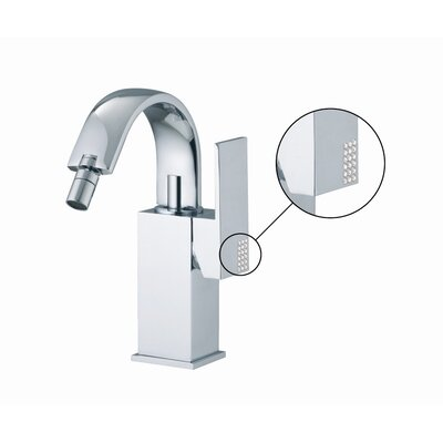 Brick Single Handle Horizontal Spray Bidet Faucet with Swivel Spout Finish: Chrome