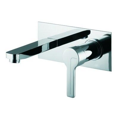 Matrix Wall Mounted Bathroom Sink Faucet with Single Handle Finish: Chrome