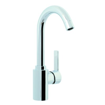 Matrix Single Hole Bathroom Sink Faucet with Single Handle Finish: Brushed Nickel, Optional Accessory: Without Swivel Spout
